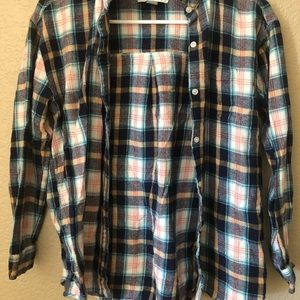 Multi-Coloured Plaid Old Navy Button Down